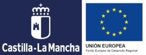 Logos CLM y UE Investigación desarrollo e innovación